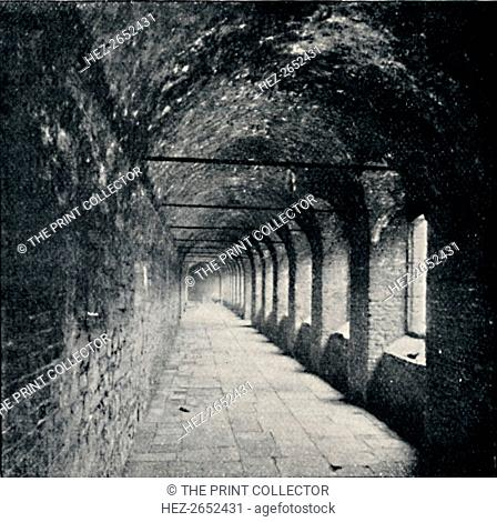 'The Cloisters, Charterhouse, London', 1903. From Social England, Volume III, edited by H.D. Traill, D.C.L. and J. S. Mann, M.A