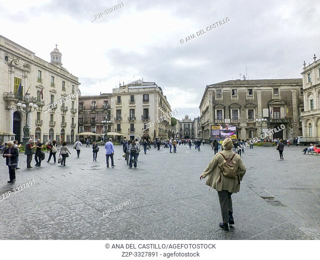 University square in Catania Sicily on October 15, 2018