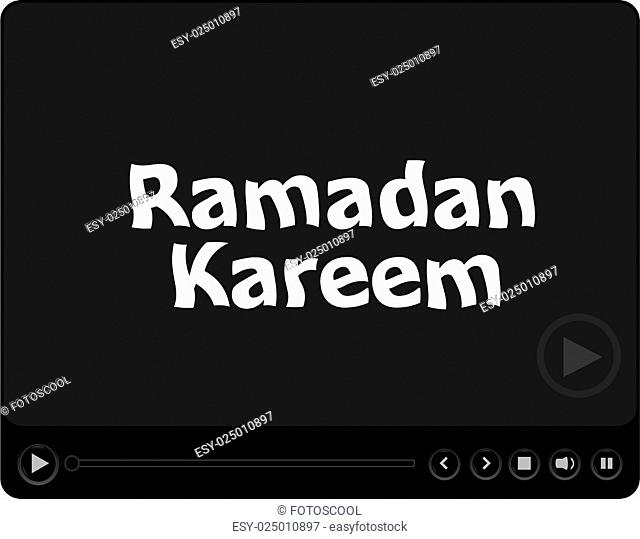 media player with ramadan kareem word on it