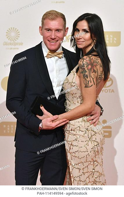 Arthur Abele (Zehnkaempfer) with his girlfriend Susann Ehmig. Red Carpet, Red Carpet, Proclamation, Gala Sportsman of the Year 2018 on 16.12