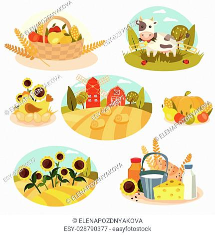 Farm vector set - 7 detailed icons