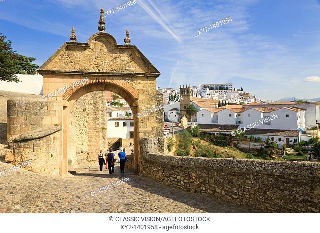 Ronda, Malaga Province, Spain  Arch of Philip V