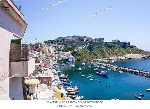 "Procida, Fisherman's Village """"La Corricella"""", Bay of Naples, Italy"