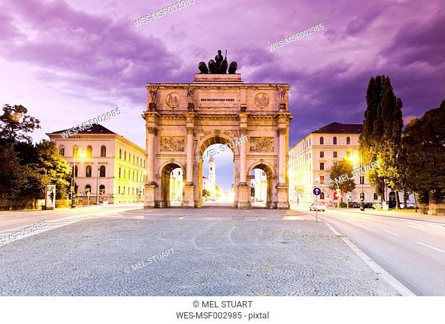 Germany, Bavaria, Munich, Victory Gate