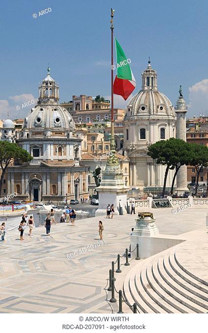 Church Santa Maria Di Loreto, church Santissimo Nome Di Maria, Trajan's Column, Rome, Lazio, Italy, Santissimo Nome di Maria al Foro Traiano, Colonna di Traiano