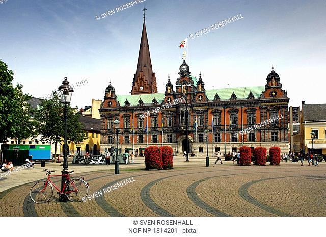 Facade of a Town Hall, Malmo, Sweden