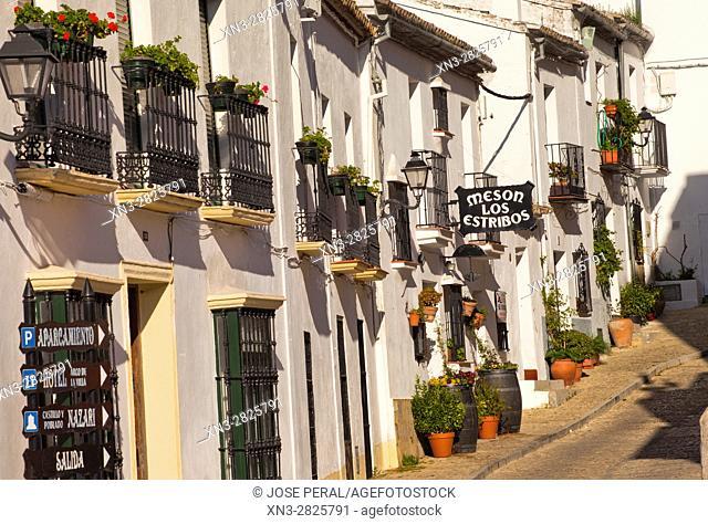 Restaurant in Tipical houses, Zahara de la Sierra, Parque Natural, Natural Park Sierra de Grazalema, White Towns, Pueblos Blancos, Cadiz province, Andalusia