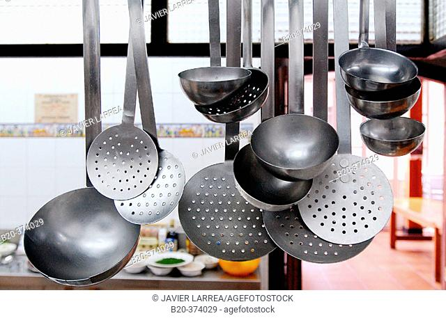 Kitchenware. Sociedad Gastronómica (Gastronomic Society). Donostia-San Sebastian, Gipuzkoa. Euskadi. Spain