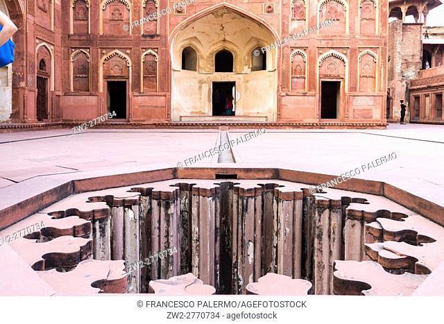 Inside of the Agra fort. Agra, Uttar Pradesh. India