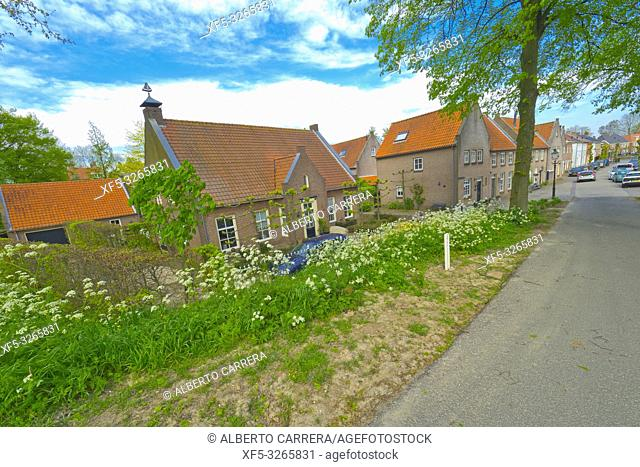 Street Scene, Traditional Architecture, Woudrichem, Noord-Brabant Province, Holland, Netherlands, Europe