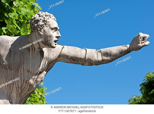 Statue guarding the entrance of the Mirabell gardens in Salzburg, Austria