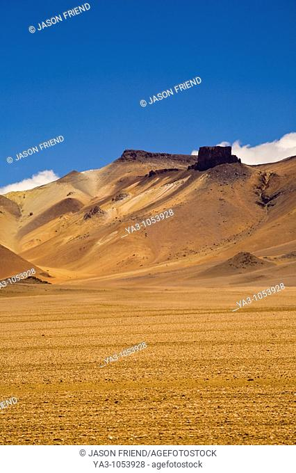 Bolivia, Southern Altiplano, Painted Desert - A landscape that could have inspired Salvador Dhali in the Bolivian Southern Altiplano