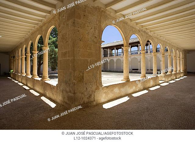 Cloister of Our Lady of los Remedios Sanctuary, Fuensanta, Albacete province, Castilla la Mancha, Spain
