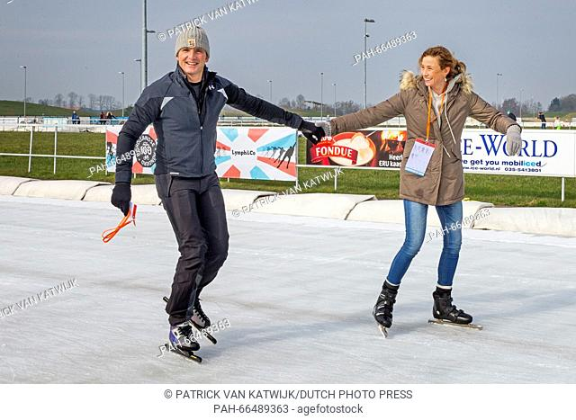 Dutch Prince Maurits and Princess Marilene attend the second edition of the Dutch 100, 10 kilometer Skating and 90 kilometer cycling