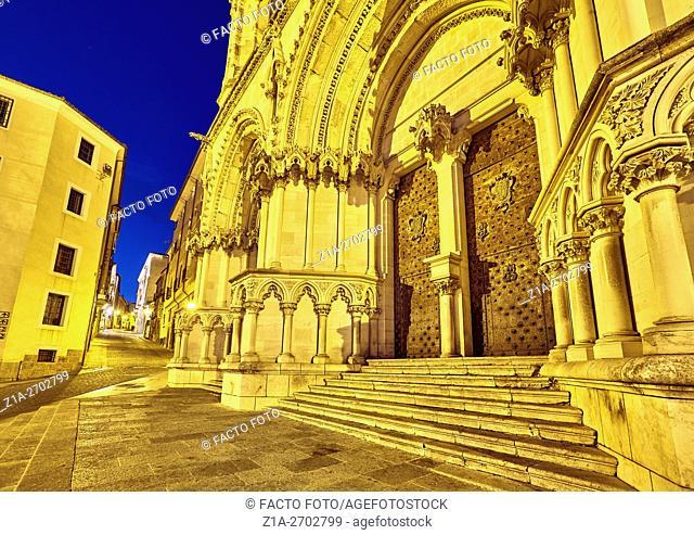 Cuenca neogothic cathedral ÒBas'lica de Nuestra Se–ora de GraciaÓ (Basilica of Our Lady of Grace), by architect Vicente Lamperez, Cuenca, Castile-La Mancha