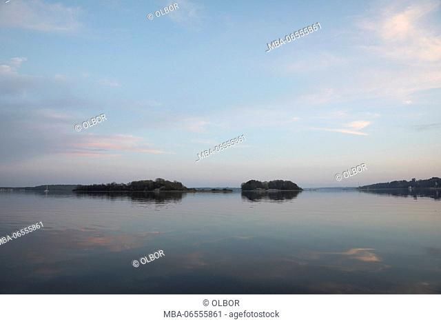 Denmark, south Denmark, Flensburg Fjord, evening mood