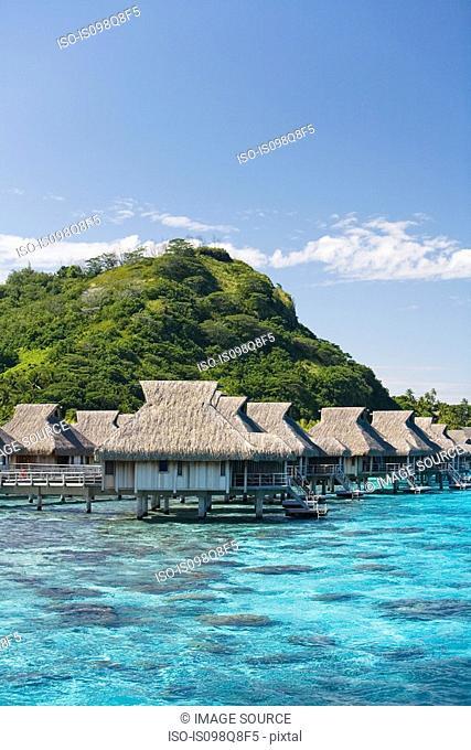 Holiday resort on bora bora