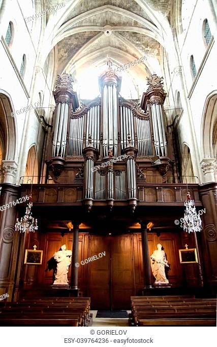 a big church organ indoors