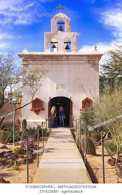 Mortuary Chapel in the grounds of the Mission San Xavier del Bac in Tucson, AZ