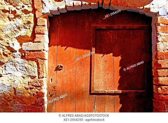 door, Verges, Girona, Catalonia, Spain