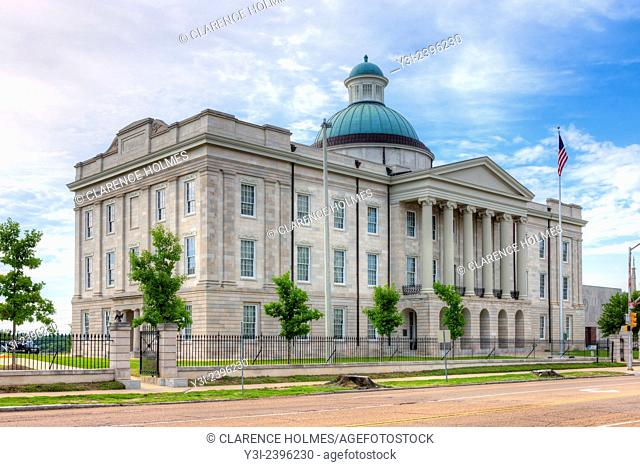 The Old Mississippi State Capitol, located on N. State Street in Jackson, Mississippi, was built in 1837 and served as the Capitol until 1903