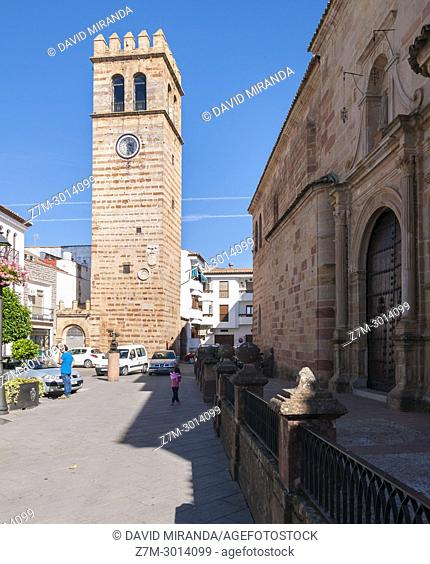 Clock Tower. Andújar. Jaén. Andalusia. Spain