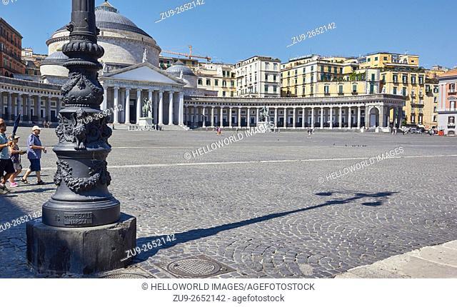 Piazza del Plebiscito , Naples, Campania, Italy, Europe.