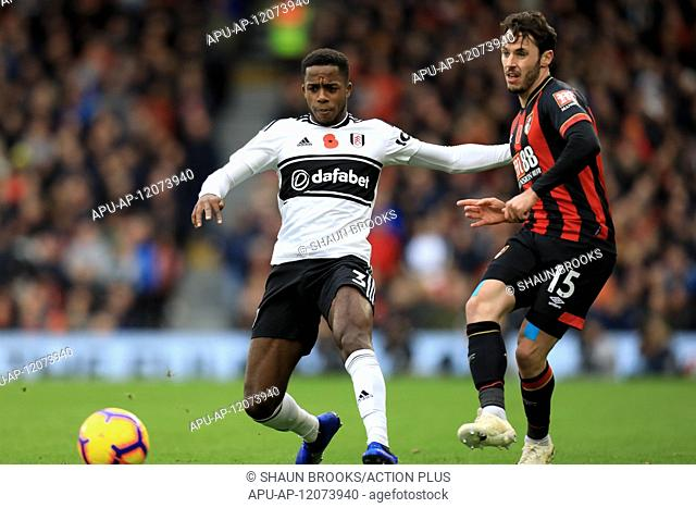 2018 EPL Premier League Football Fulham v AFC Bournemouth Oct 27th. 27th October 2018, Craven Cottage, London, England; EPL Premier League football