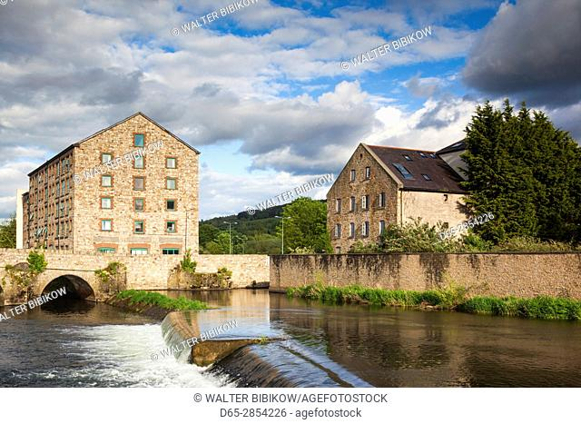 Ireland, County Tipperary, Clonmel, old mill buildings
