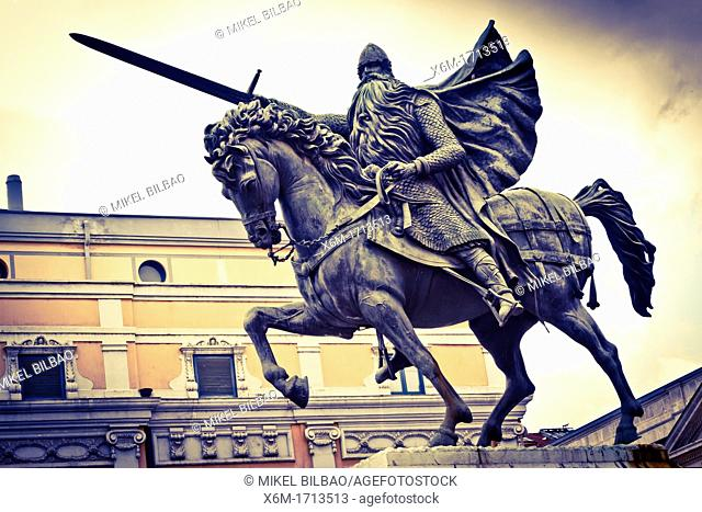 Statue of El Cid  Burgos city  Castile and Leon, Spain