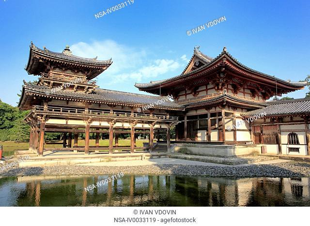 Byodo-in monastery, Phoenix hall 1053, Uji, near Kyoto, Japan