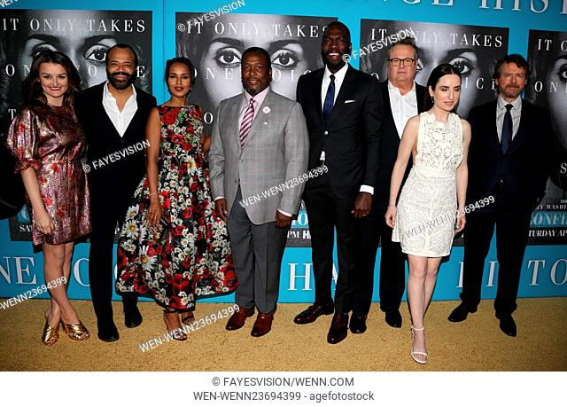 Premiere of HBO Films' 'Confirmation' at Paramount Theater - Arrivals Featuring: Alison Wright, Jeffrey Wright, Kerry Washington, Wendell Pierce, Rick Famuyiwa