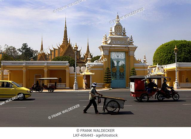 Royal Palace, Phnom Penh. Capital of, Cambodia, Asia