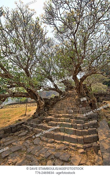 Atmospheric ruins at Vat Phou (Wat Phu) in Champasak, Laos