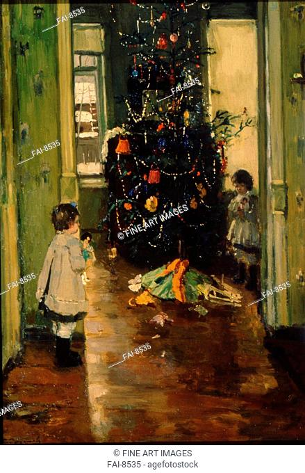 Christmas tree. Radimov, Pavel Alexandrovich (1887-1967). Oil on canvas. Russian Painting, End of 19th - Early 20th cen. . 1924