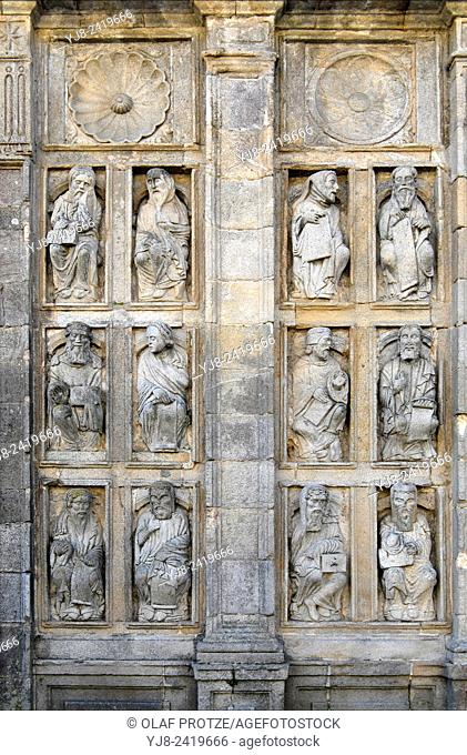 Detail at the Cathedral of Santiago de Compostela, Spain