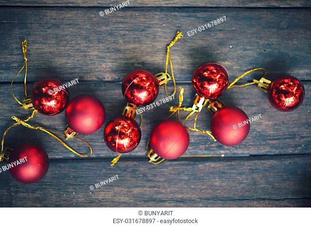 Christmas xmas vintage decoration on the wooden background