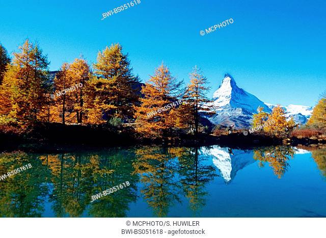 Matterhorn mirroring in Riffelsee, Switzerland, Zermatt
