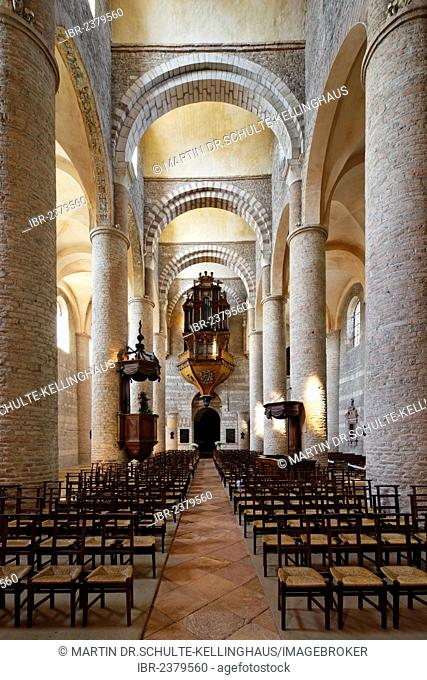 Abbey Church of St. Philibert, Tournus, Burgundy region, department of Saône-et-Loire, France, Europe