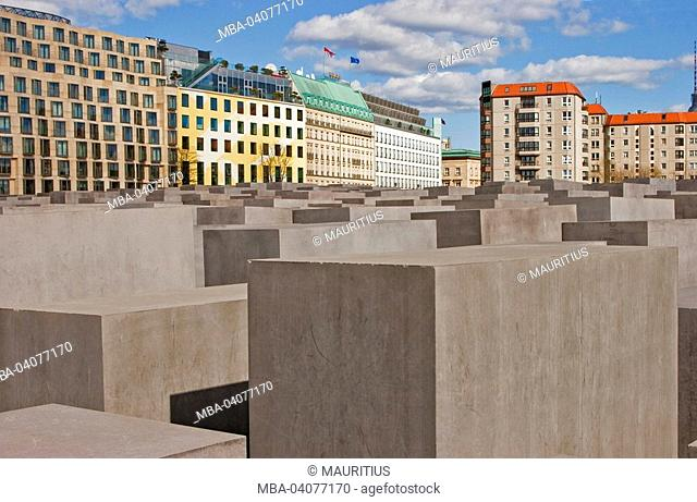 Germany, Berlin, holocaust memorial, close-up